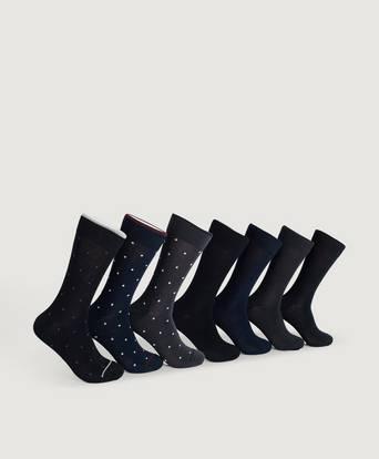 7-pack digge bambus sokker